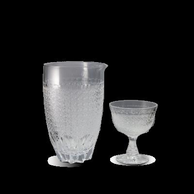 酒注ぎ菊繋ぎ(透き) / 高脚杯菊繋ぎ(透き)
