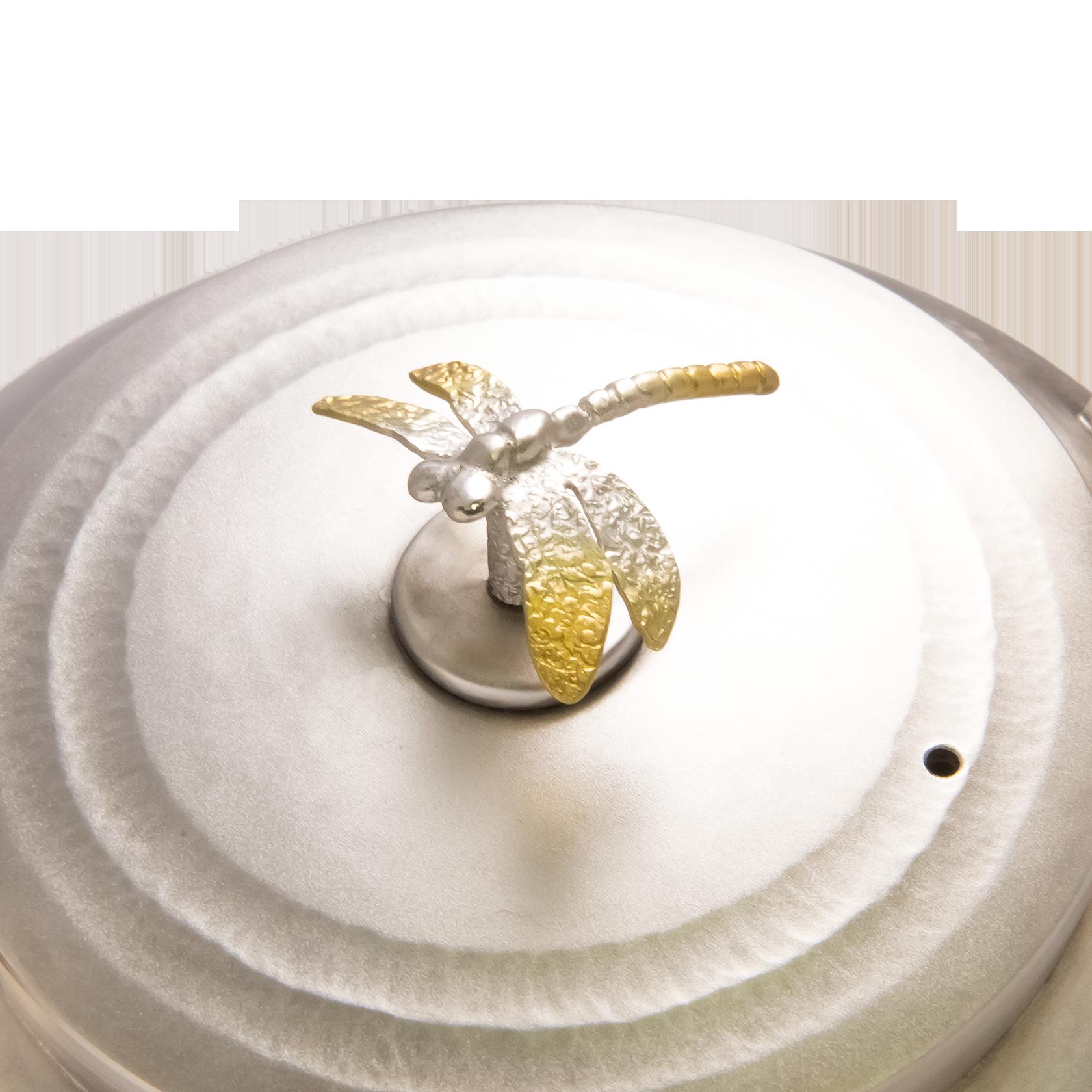 純銀製螺旋蜻蛉湯沸