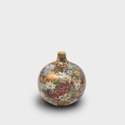 華薩摩 菊詰 小壷