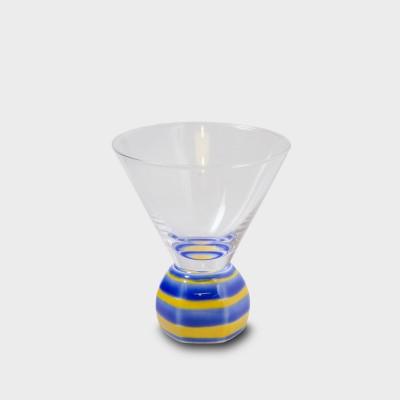 有田焼浪漫グラス SAKE GLASS六角形  黄交趾駒筋
